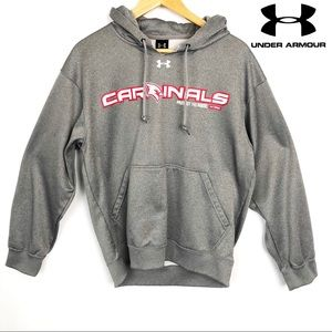 Under Armour Mens Gray Cardinals Hoodie Sweatshirt